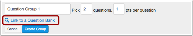 Link to a Question Bank