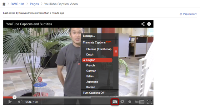 Embed Video in Canvas