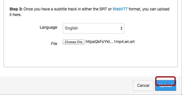 Upload Subtitle File