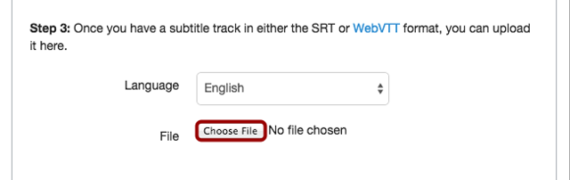 Locate Subtitle File