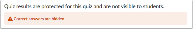 View Protected Quiz Results