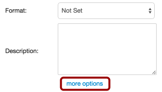 Select More Options