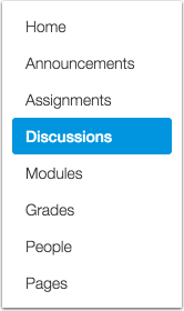 Discussions Page Settings