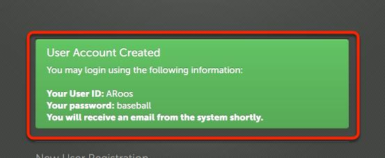 Step 3: Account Creation Summary