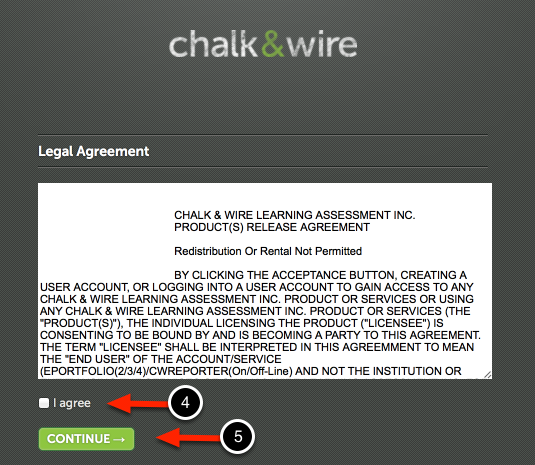 Step 2: Accept Legal Agreement (if applicable)