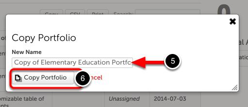 Step 3: Copy Portfolio