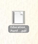 Step 4: Open Downloaded Portfolio as PDF