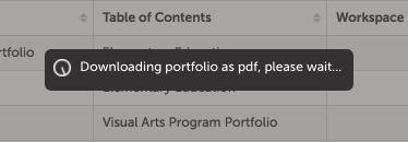 Step 3: Download Portfolio