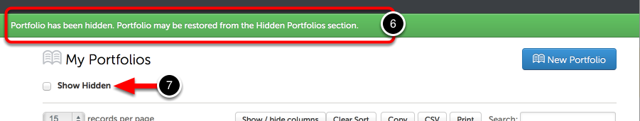 Step 4: Hidden Portfolio Confirmation