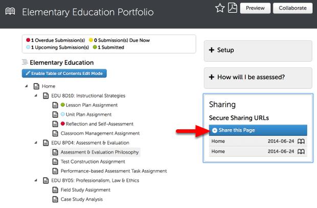 Step 3: Select the Portfolio Page