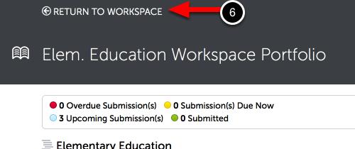 Step 4: Return to Workspace