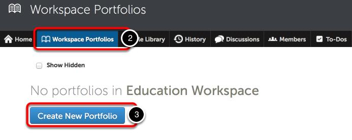 Step 2: Navigate to the Workspace Portfolios Tab