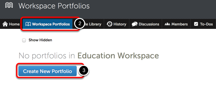 Step 2: Navigate to the Workspace Portfolios Tab