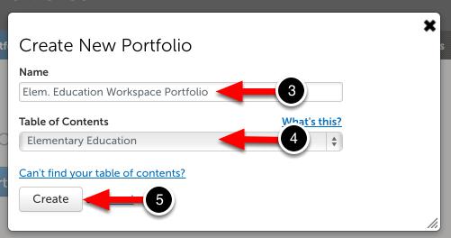 Step 3: Create New Portfolio