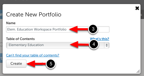 Step 3: Create New Portfolio
