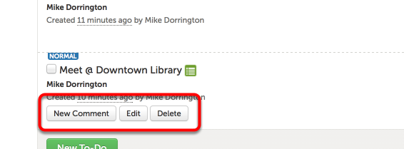 Step 4: Comment On, Edit, or Delete a To-Do