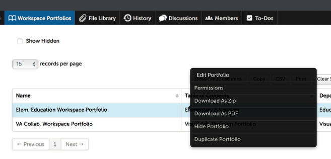 Step 3: Access the Workspace's Portfolios