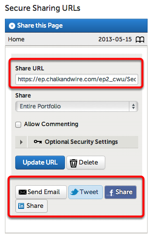 Step 3: Distribute Secure Share URL