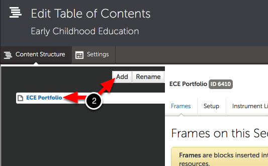 Step 2: Add Main Sections to the Table of Contents