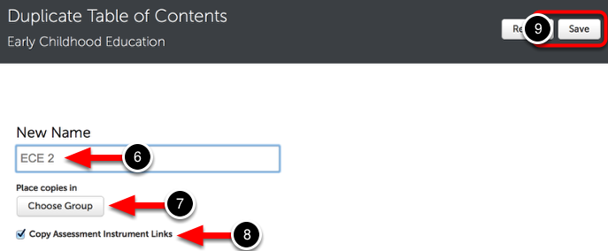 Step 3: Name and Assign the New Table of Contents