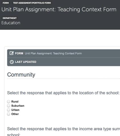Assessment/Portfolio Form