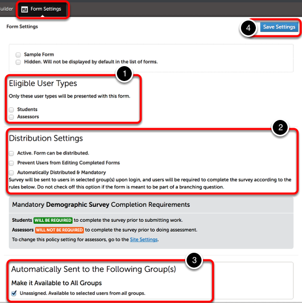 Distribute Assessment/Portfolio Forms