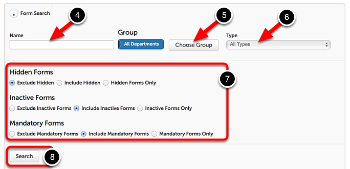 Step 2: Search for a Form