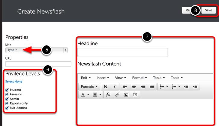 Step 3: Enter Newsflash Content