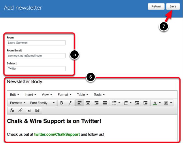 Step 3: Add Newsletter Content