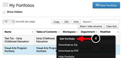 Step 2: Edit Portfolio