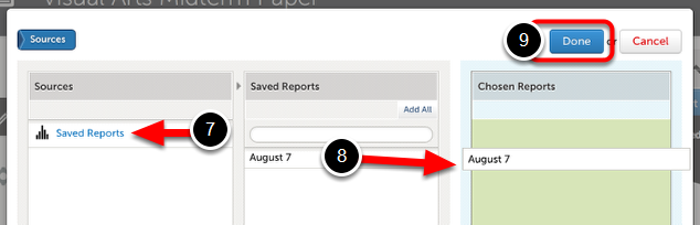 Step 4: Select Saved Report