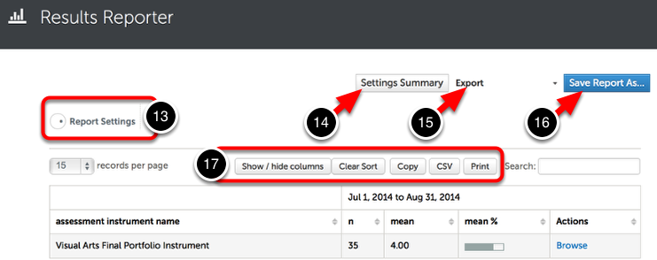 Step 7: Optionally Adjust Settings, Use Report Options