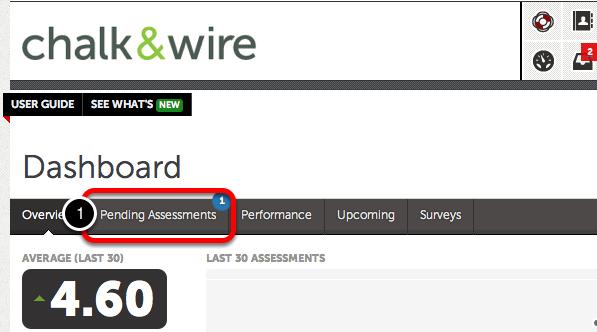 Option 2: Access Pending Assessments via Pending Assessments Tab