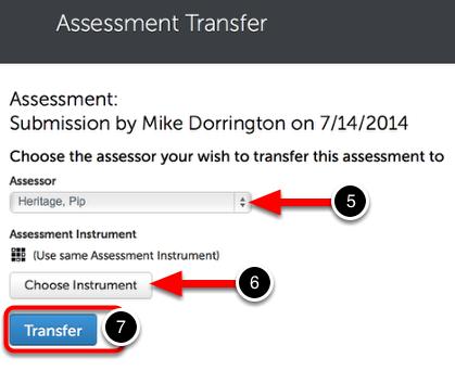 Step 3: Transfer Assessment