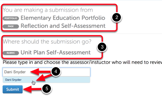 Step 2: Enter Instructor and Submit