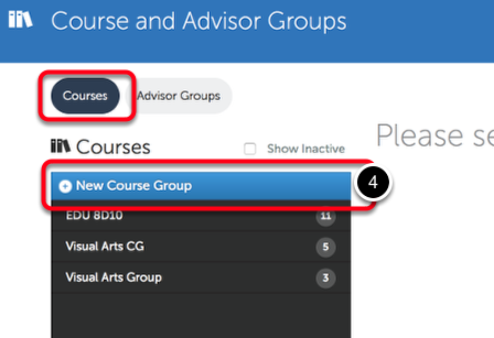 Step 2: Create New Course Group