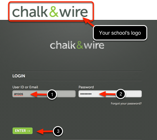 Step 1: Enter User ID & Password