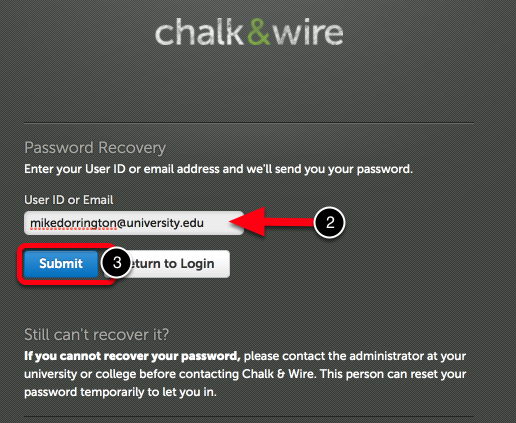 Step 2: Enter User ID or Email