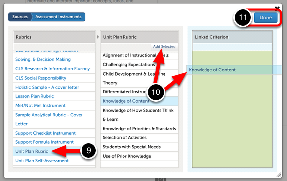Step 5: Select the Criterion