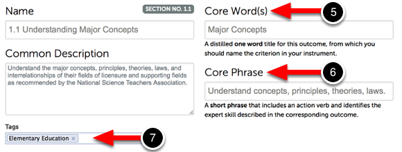 Step 3: Add Core Word(s) and Core Phrase
