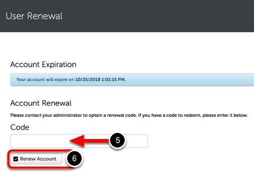 Step 3: Renew Account