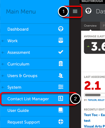 Step 1: Access Contact List Manager