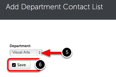 Step 3: Select Department
