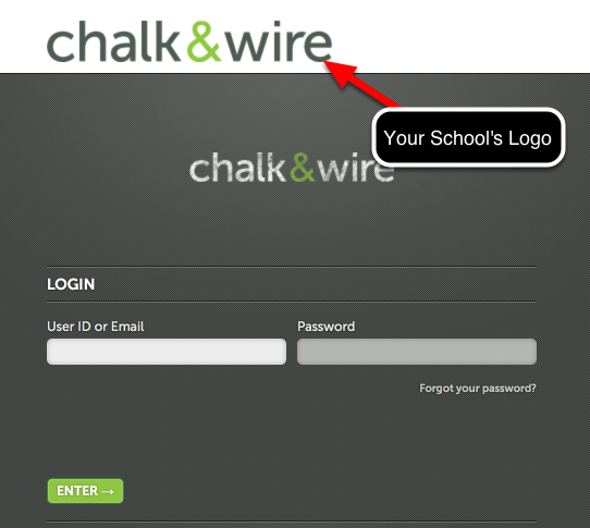 Are you using the correct Chalk & Wire login screen?