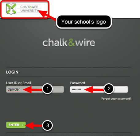 Step 1: Log into Your Chalk & Wire Account