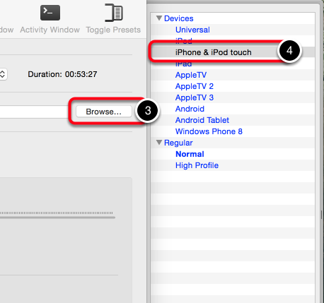 Step 3: Name your new Video File and Select the Output Type