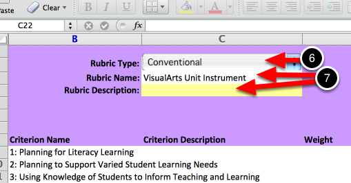 Step 4: Fill Out the Instrument Creation Form (Excel File)