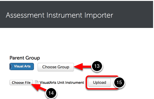 Step 5: Upload Assessment Instrument