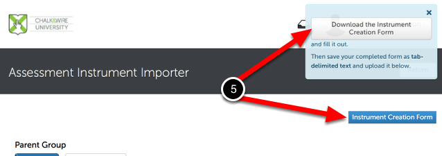 Step 3: Download Instrument Creation Form