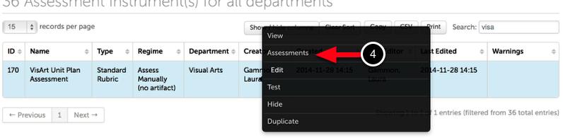Step 2: Locate Assessment Instrument